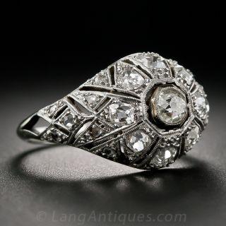 Art Deco Diamond Bombe Ring