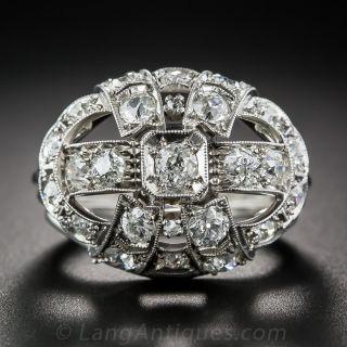 Art Deco Diamond Cocktail Ring - 1