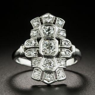 Art Deco Diamond Dinner Ring - 2