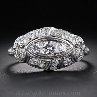 Art Deco Diamond Dome Ring - 1