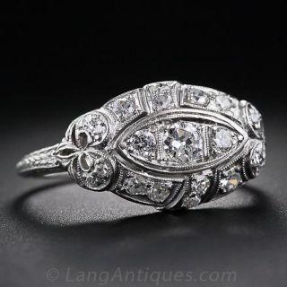 Art Deco Diamond Dome Ring