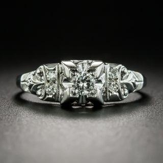 Art Deco Diamond Engagement Ring - 1