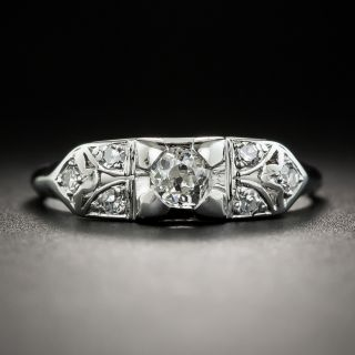 Art Deco Diamond Engagement Ring by Granat Brothers - 1