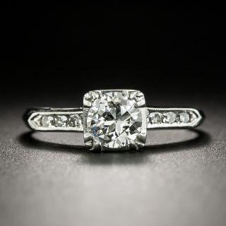 Mid-Century .62 Carat Diamond Engagement Ring - 1