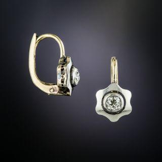 Art Deco Diamond Flower Earrings - 2