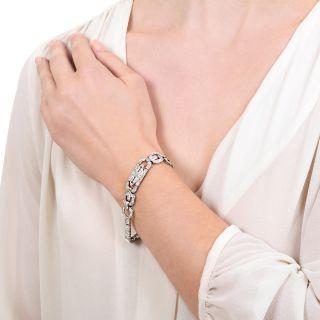 Art Deco Diamond Link Bracelet