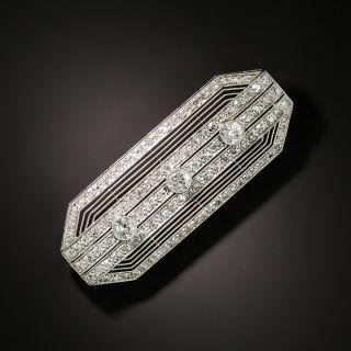 Art Deco Diamond Octagonal Brooch - 3