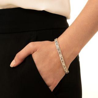 Art Deco Diamond Openwork Link Bracelet