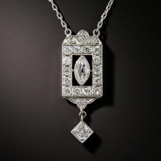 Art Deco Diamond Pendant Necklace - 2