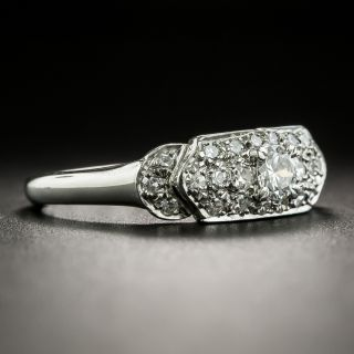 Art Deco Diamond Platinum Band Ring