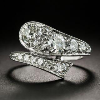 Art Deco Platinum Diamond Snake Ring - 2
