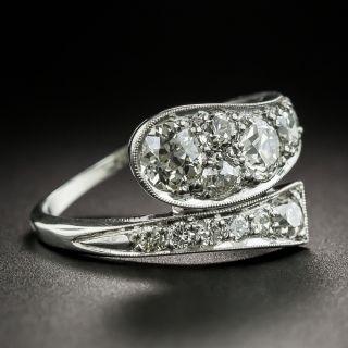 Art Deco Diamond Platinum Snake Ring