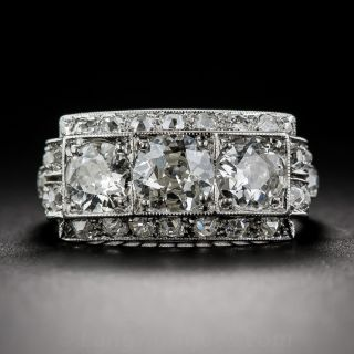 Art Deco Diamond Three-Stone Ring - 1
