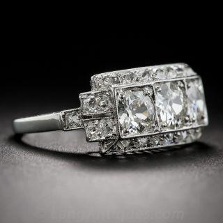 Art Deco Diamond Three-Stone Ring