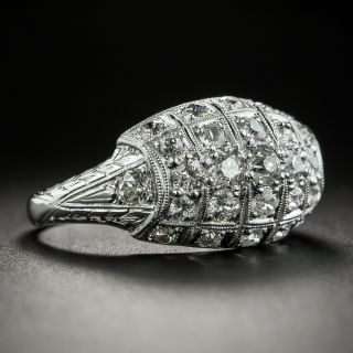 Art Deco Diamond Tonneau Ring