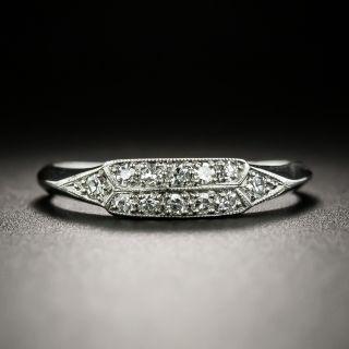 Art Deco Diamond Wedding Band by Loretz and Benoit - 5