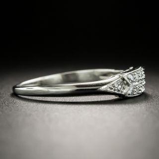 Art Deco Diamond Wedding Band by Loretz and Benoit