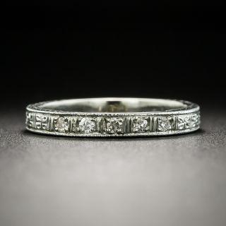 Art Deco Diamond Wedding Band, Size 5 - 2