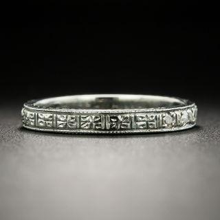 Art Deco Diamond Wedding Band, Size 5