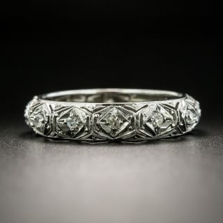 Art Deco Diamond Wedding Band, Size 7 1/2 - 2