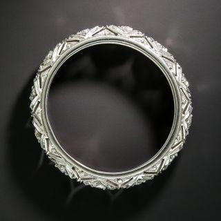Art Deco Diamond Wedding Band, Size 7 1/2
