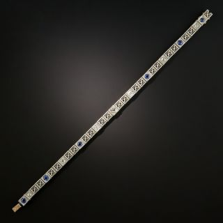 Art Deco Diamond with Sapphire Bracelet
