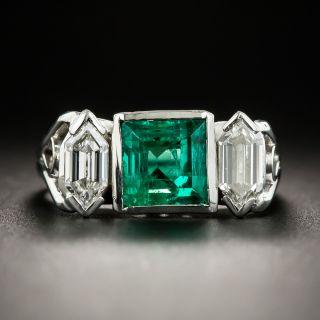 Emerald and Diamond Ring - 2