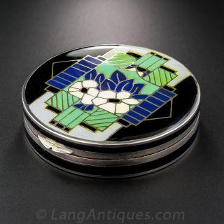 Art Deco Enameled Powder/Pill Box