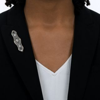 Art Deco Filigree Bar Pin