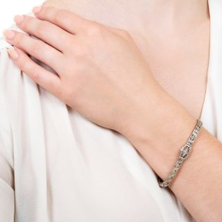Art Deco Filigree Diamond Bracelet