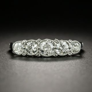 Art Deco Five-Stone Diamond Band Ring - 2