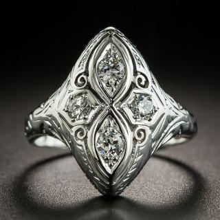 Art Deco Four-Stone Diamond Dinner Ring - 2