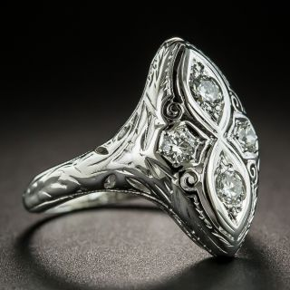 Art Deco Four-Stone Diamond Dinner Ring