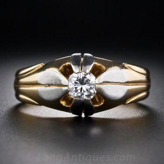 Art Deco Gent's Diamond Ring - 1