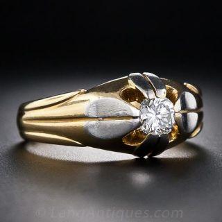 Art Deco Gent's Diamond Ring