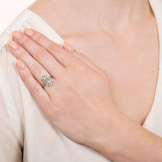 Art Deco Geometric Diamond Dinner Ring