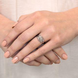 Art Deco .68 Carat Geometric Diamond Engagement Ring