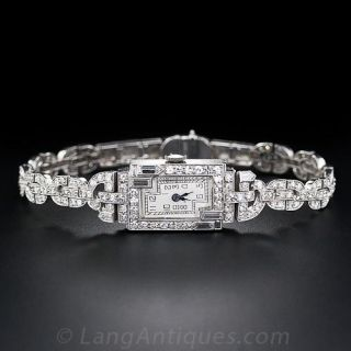 Art Deco Ladies' Diamond & Platinum Watch