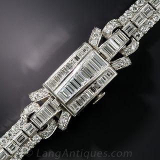 Art Deco Lady's Diamond Bracelet Cover Watch