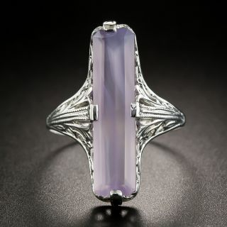 Art Deco Style Agate Ring - 2