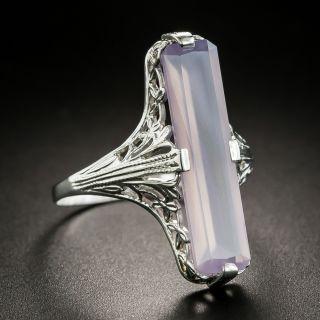 Art Deco Lavender Agate Ring
