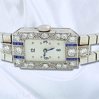 Art Deco Longines Diamond Ladies Watch