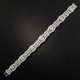Art Deco MarquiseDiamond Platinum Bracelet - 3