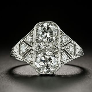 Art Deco Moi et Toi Diamond Ring - 3