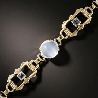 Art Deco Moonstone and Sapphire Bracelet by The Allsopp Bliss Company - 3