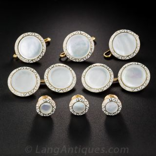 Art Deco Mother-of-Pearl 8-Piece Dress Set by J.E. Caldwell - 2