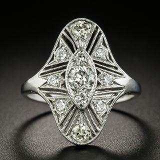 Art Deco Openwork Diamond Dinner Ring - 2