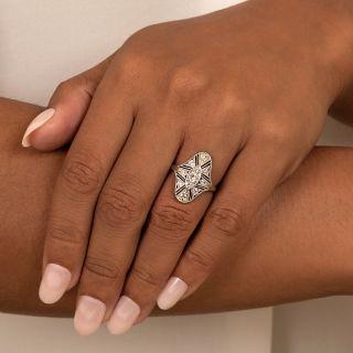 Art Deco Openwork Diamond Dinner Ring