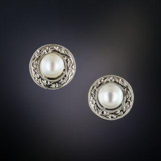 Vintage Pearl Ear Studs - 1