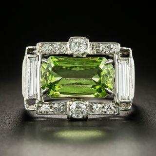 Art Deco Peridot and Diamond Ring - 2